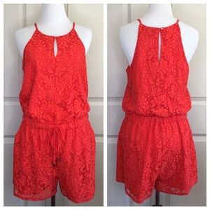 Laced Halter Top Romper